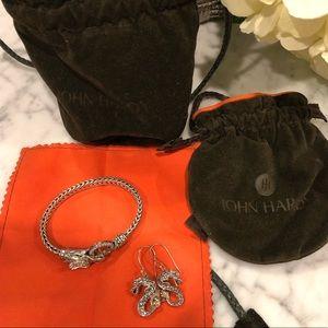 John Hardy Bracelet & Earring Set Authentic